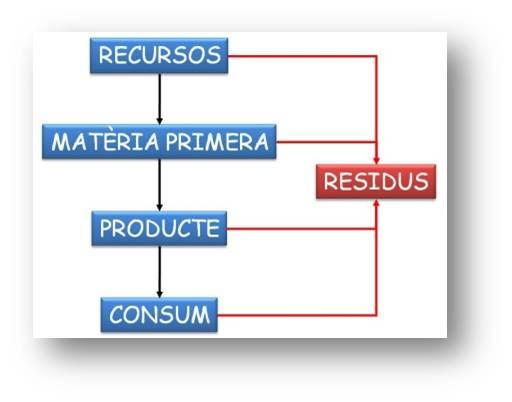 representació esquemàtica d'un cicle productiu